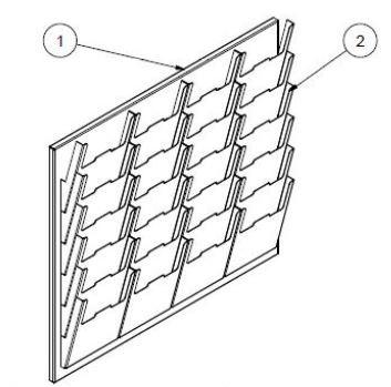 Neu - Ordnungssystem mit Dokumentenfächer 24 Einschübe - Türer Machinery