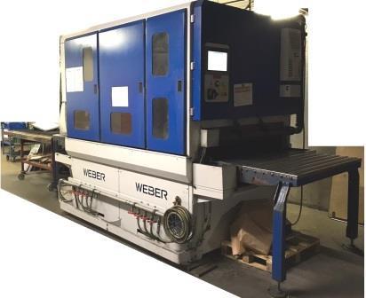 Nass Entgratmaschien Weber NLC 1100 Arbeitsbreite 1100mm